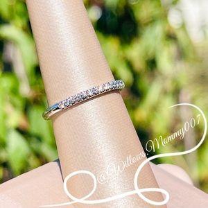 Tiffany & Co. Tiffany Soleste Half Circle Diamond Band Ring in Platinum